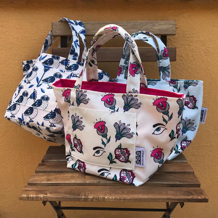 Handmade Fabric bags - tote bags